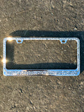 2 Row Swarovski Crystallized License Plate Frame