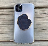 Genuine Agate Rock Pop Socket in 4 Colors