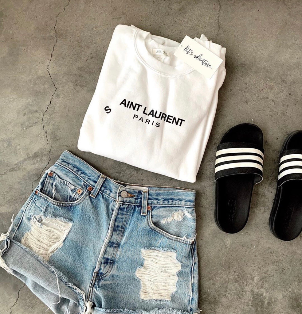 """S'AINT LAURENT"" Sweatshirt"