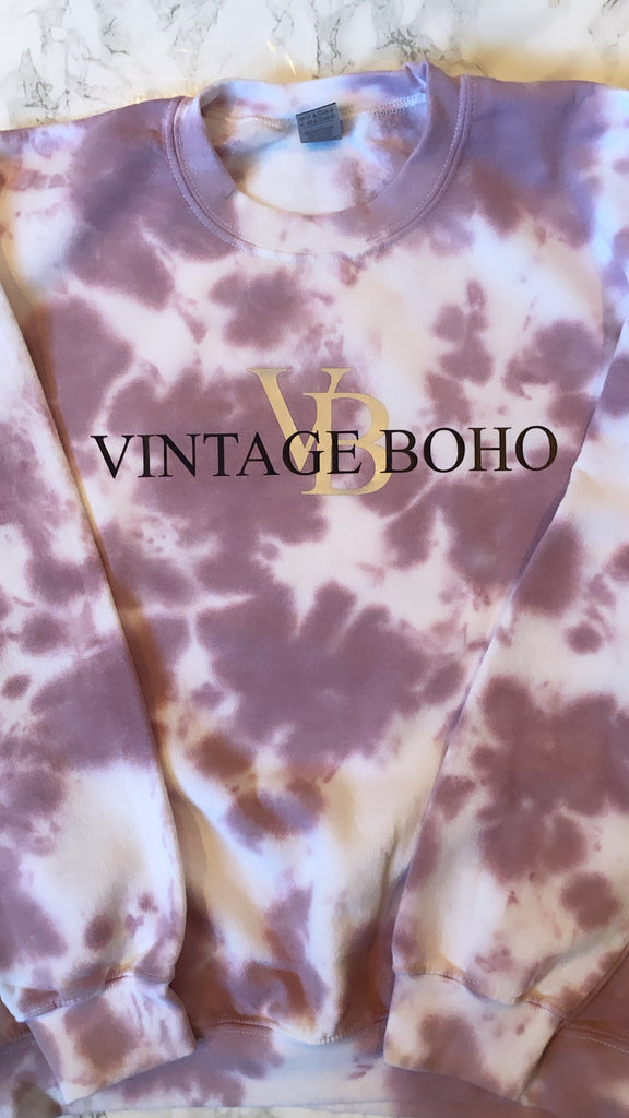 "AS SEEN ON MICHELLE FROM VB! GLITZY BELLA ORIGINAL : ""Vintage Boho"" Graphic Sweatshirt"