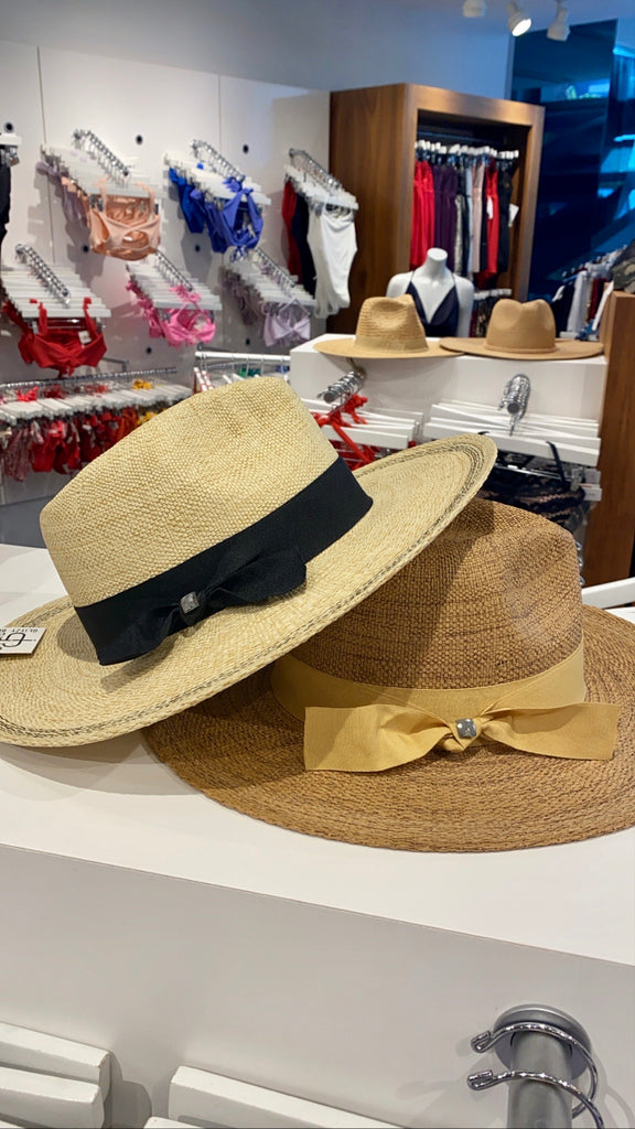 Janessa Panama Hat in Natural - Glitzy Bella