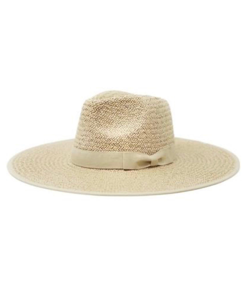 The Palm Desert Straw Panama Hat in Light Natural - Glitzy Bella
