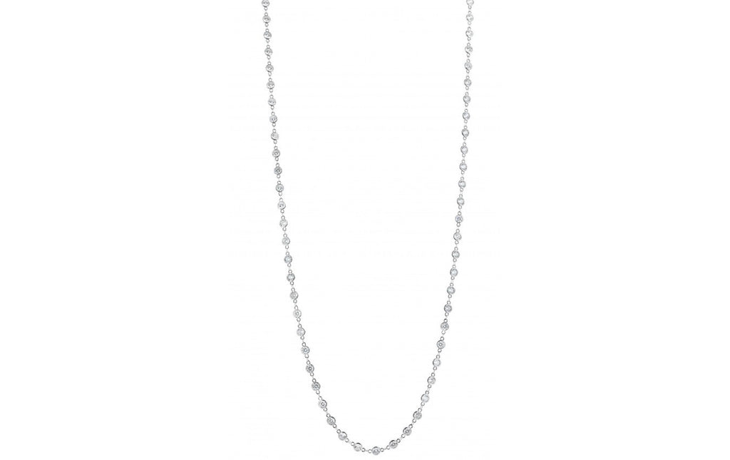 "Alexis ""Crystals by the Yard"" Necklace in Silver"