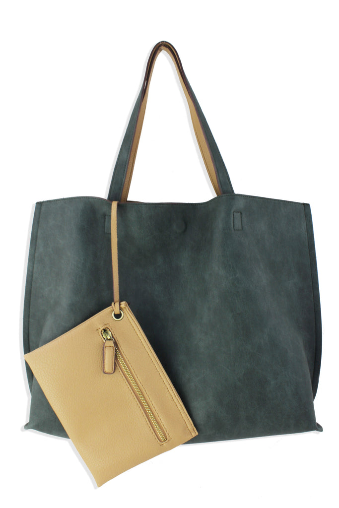 "Alexis ""City"" Reversible Faux Leather Tote"