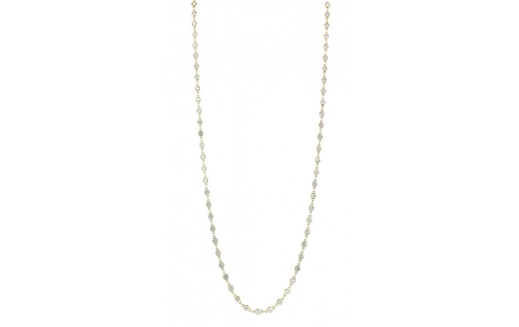"Alexis ""Crystals by the Yard"" Necklace in Gold - Glitzy Bella"