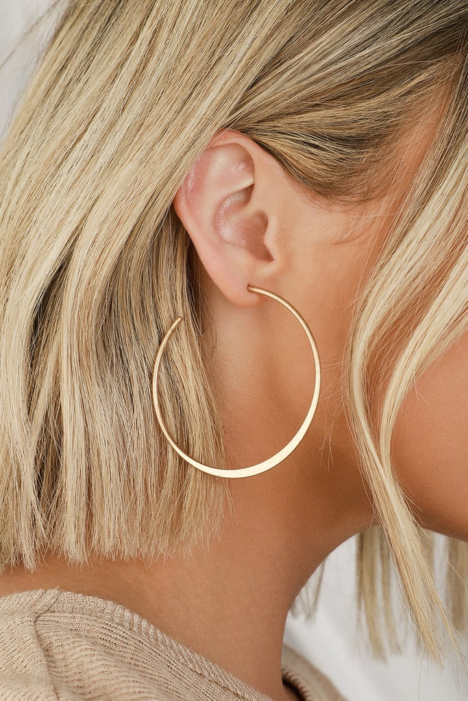 14K Gold Dipped Hoop Earrings - Glitzy Bella