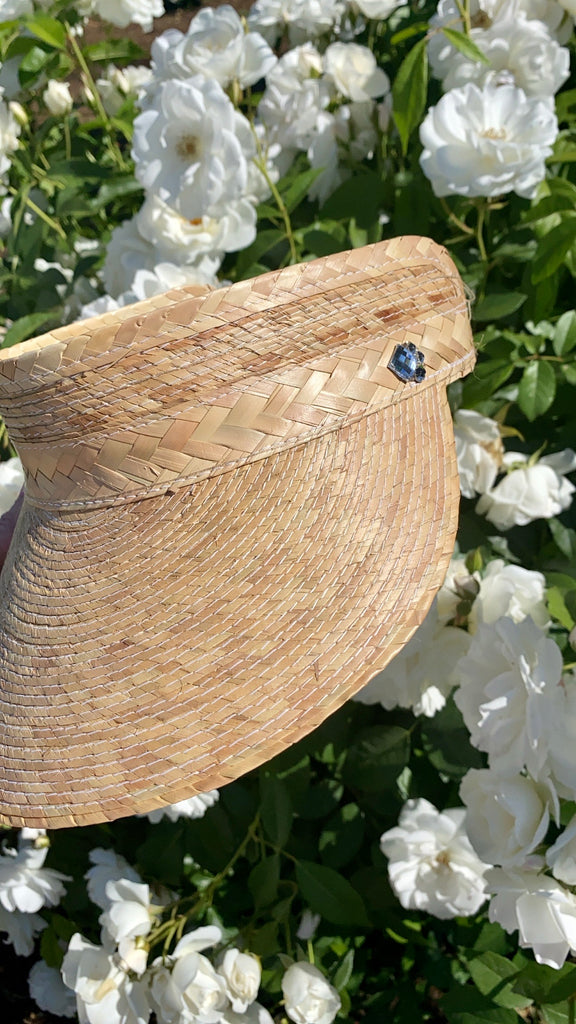 NEW!! Sunblock Straw Visor in 2 Styles