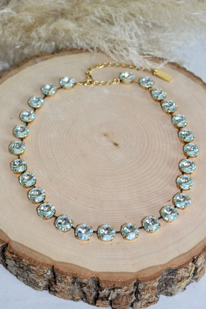 Swarovski Necklace w/ Light Azure Crystals