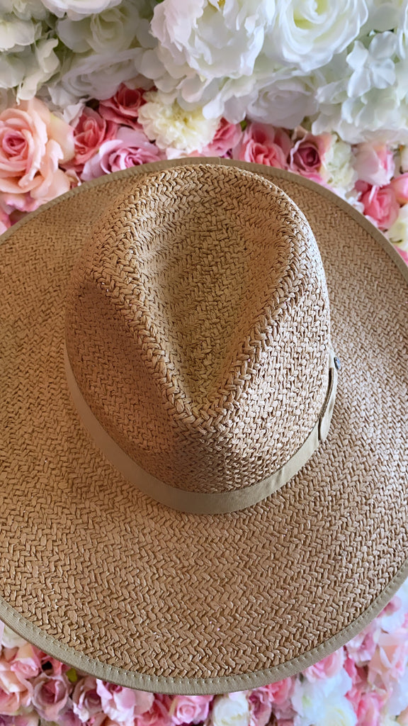 IN STOCK!! AS SEEN ON MICHELLE from VB! The Palm Desert Straw Panama Hat in Natural
