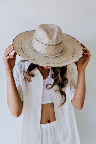 """AS SEEN ON MICHELLE from VB!! The Isla Bonita Palm Leaf Panama Hat"