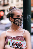 """Make it Fashion"" Dark Leopard Face Mask - Glitzy Bella"