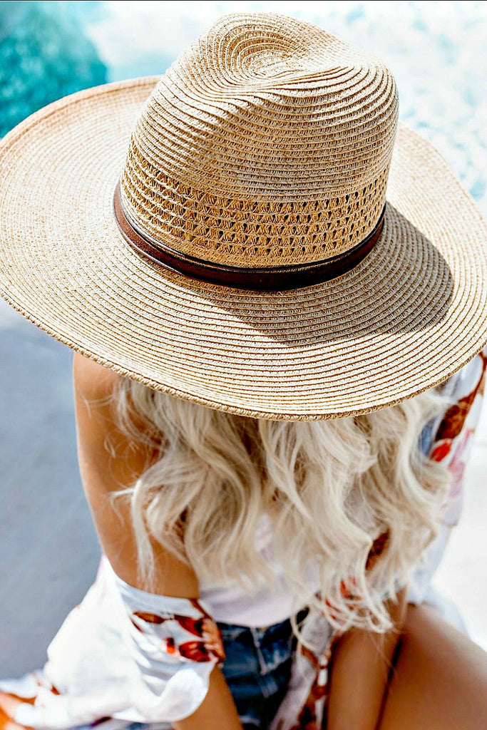 South Shore Panama Hat - Glitzy Bella