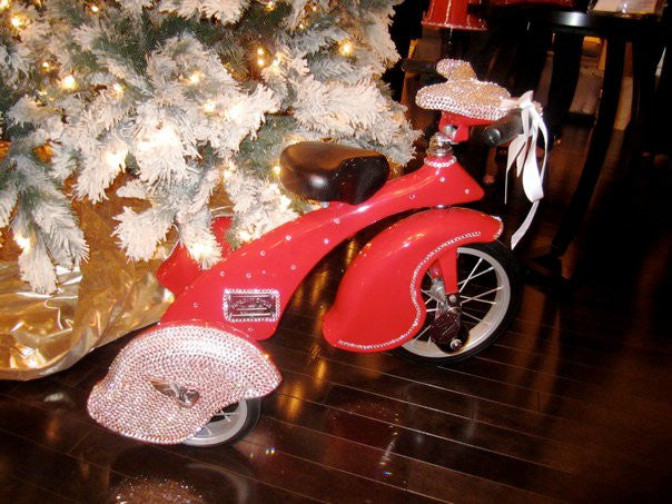 Glitzy Bella Swarovski Covered Tricycle - Glitzy Bella