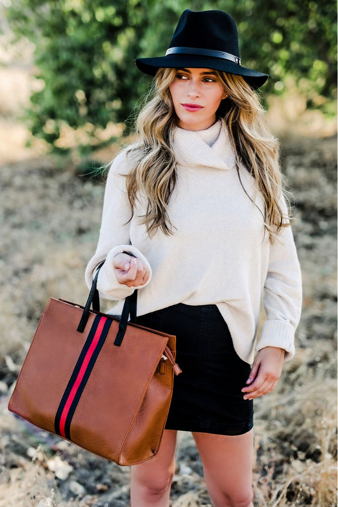 """Bedford"" Tote Bag - Tan"