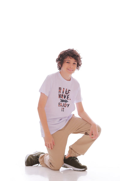 Camiseta Blanca - Junior Masculino