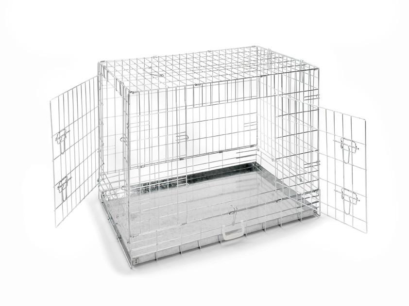 "48"" Chrome Dog Crate"