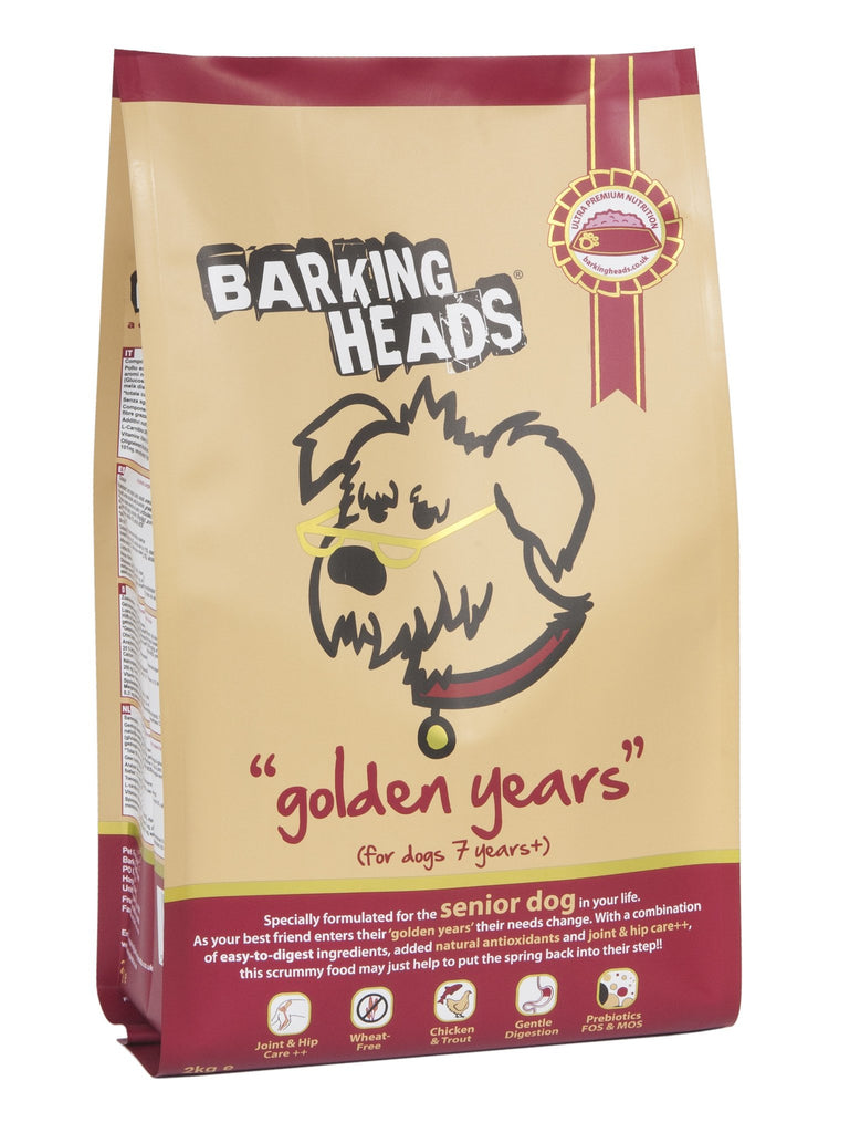Barking Heads Senior Golden Years Dog Food