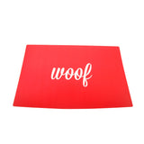 Woof Placemat Red