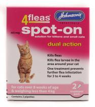 4Fleas Spot On Dual Action Flea Treatment For Cats