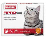 Beaphar Fiprotec For Cats Spot-On Flea and Tick Treatment 3 pack