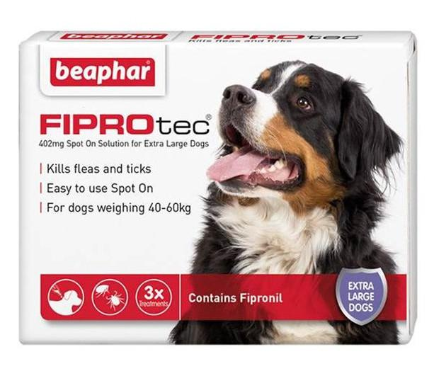 Beaphar Fiprotec Flea and Tick Spot On For Dogs 3 pack