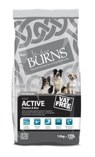 Burns Active Chicken & Rice Dog Food 12kg