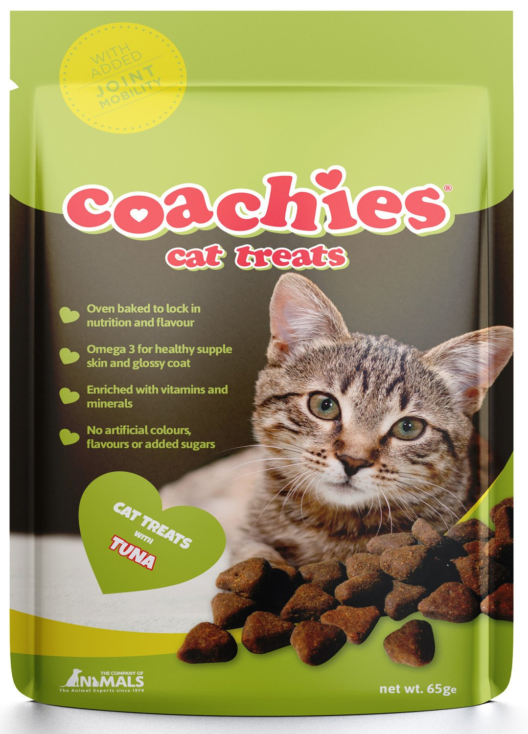 Coachies Cat Treats Tuna Joint Mobility 65g