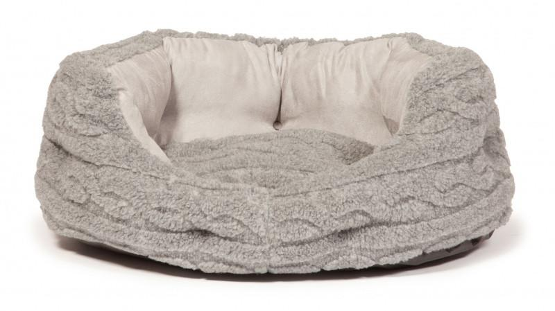 Bobble Soft Pewter Deluxe Slumber Dog Bed