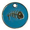 Enamel Blue Fish Bone Cat ID Tag