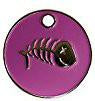 Enamel Pink Fish Bone Cat ID Tag
