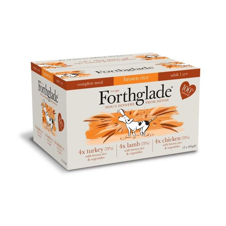 Forthglade complete dog food (with brown rice) multipack