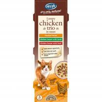 Hilife Its Only Natural Cat Can Multipack Luxury Chicken Trio In Sauce 3x70g (6pk)
