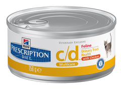 Hills Prescription C/D Chicken Cans 156g x 24