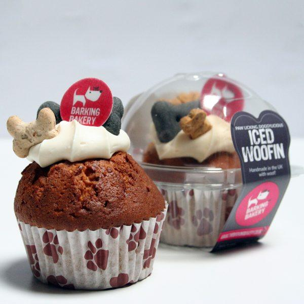 The Barking Bakery Iced Woofin Dog Cupcake