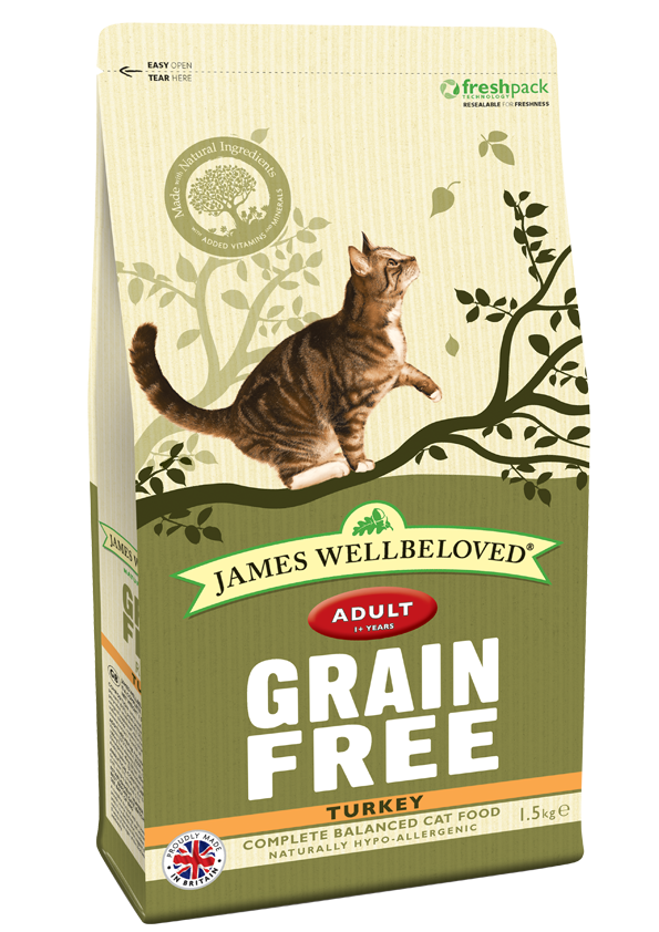 James Wellbeloved Grain Free Turkey Cat Food 1.5kg