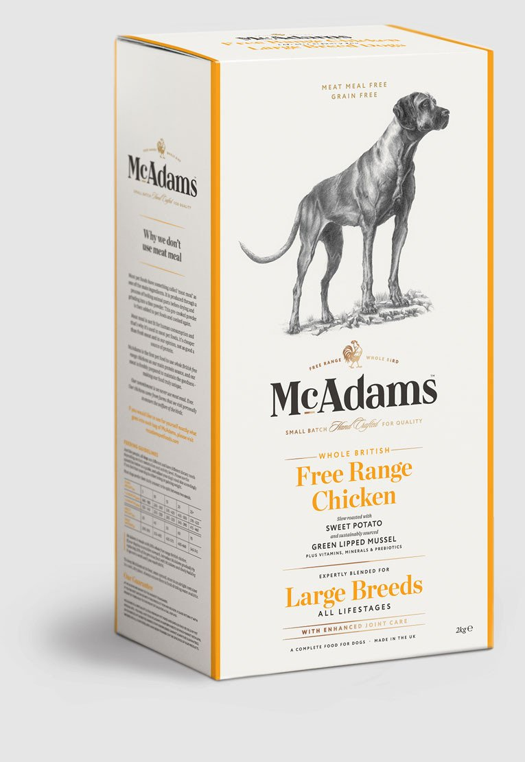 Mcadams British Free Range Chicken For Large Breed Dogs