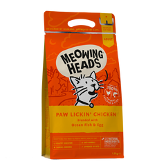 Meowing Heads Paw Lickin' Chicken Cat Food