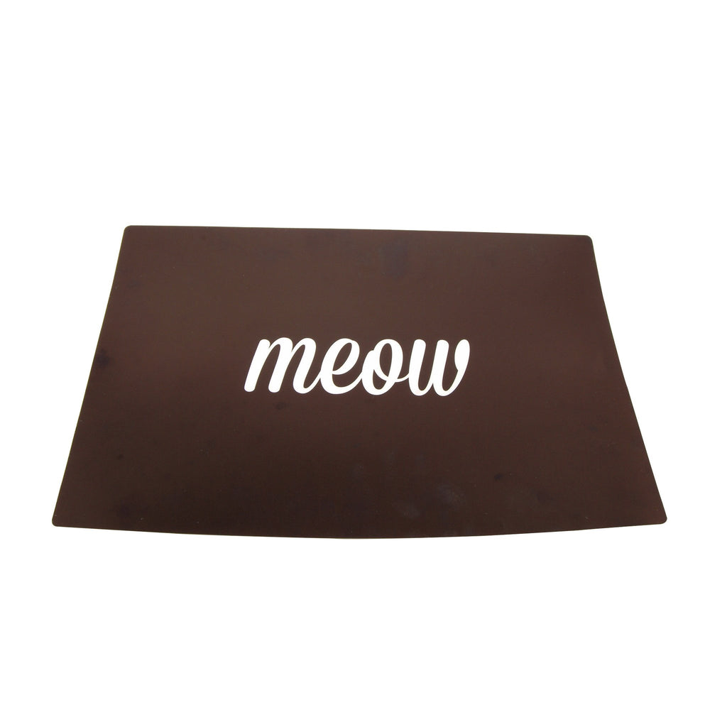 Meow Black Cat Dinner Placemat