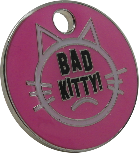 Bad Kitty Cat ID Tag