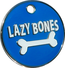 Lazy Bones Dog Engravable ID Tag