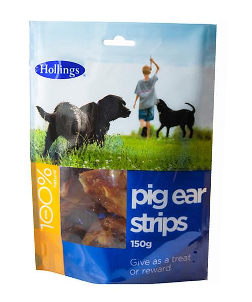Hollings Pig Ear Strips 150g