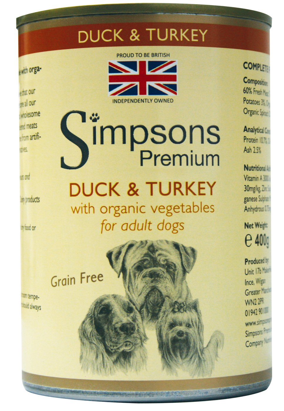 Simpsons Duck & Turkey Casserole with Organic Vegetables 400g