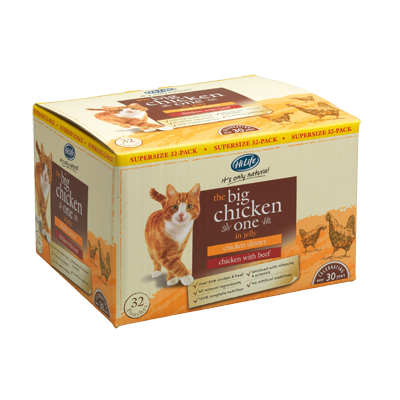 Hilife Its Only Natural Cat Pouch Multipack The Big Chicken One In Jelly 32x70g
