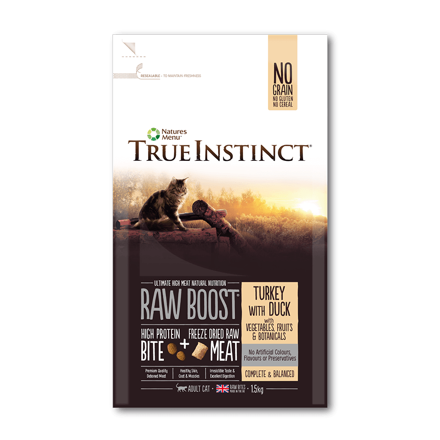 True Instinct Raw Boost - Turkey with Duck For Cats 1.5kg
