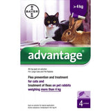 Advantage 80 for Large Cats and Rabbits - 4 Pipettes