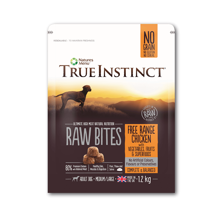 True Instinct Raw Bites - Free Range Chicken For Dogs 1.2kg