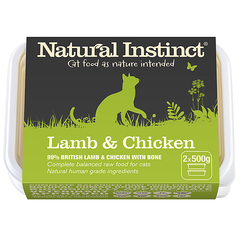 Natural Instinct Lamb and Chicken Cat Food 2 x 500g