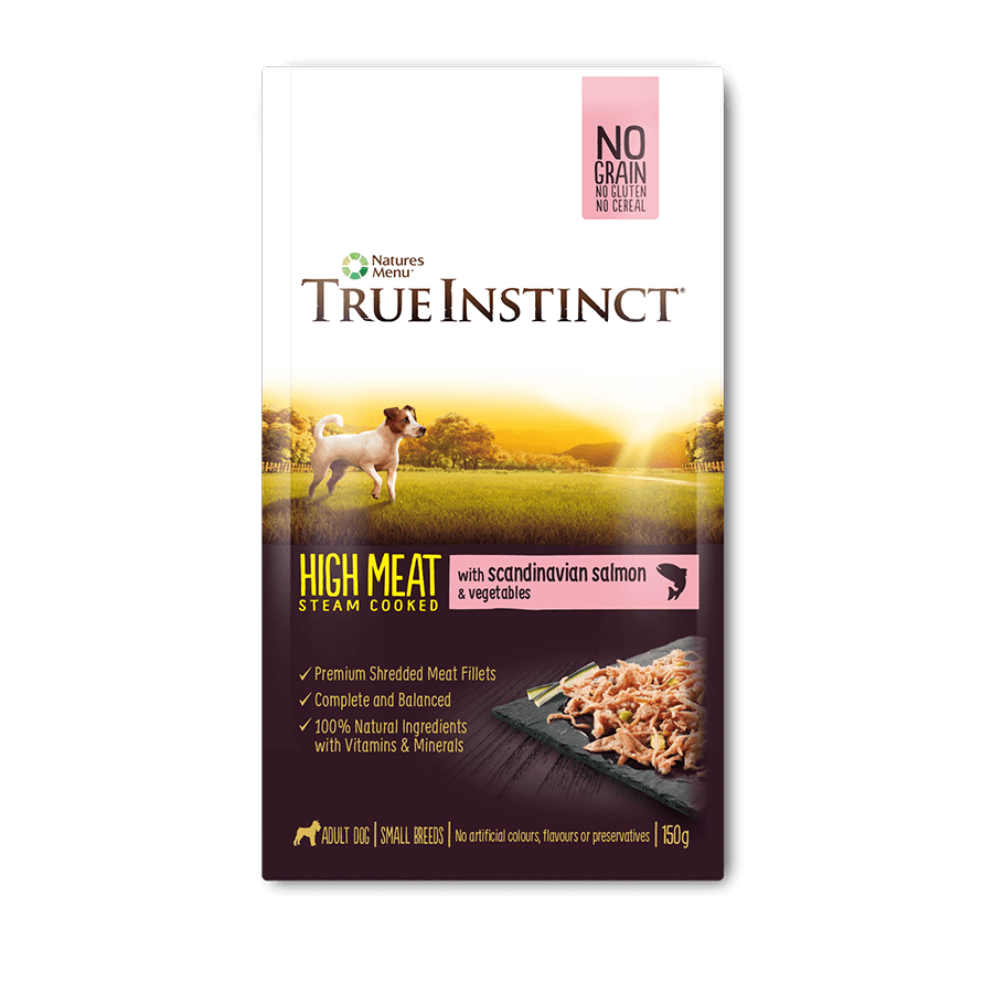 True Instinct High Meat Fillet Wet Pouch - Scandinavian Salmon For Small Breed Dogs 150g x 8pk