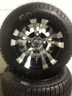 "10x7 Aluminum ""Vampire"" Wheel On 205/50/10 Street Tire"