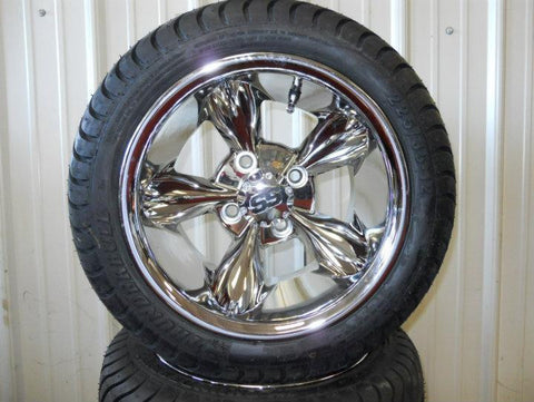 12x7 Aluminum Polished Godfather On Low Pro Street Tire